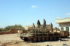 Các máy bay liên quân Mỹ tấn công địa điểm của quân đội Syria