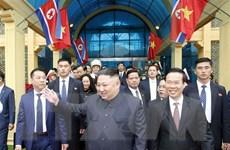 Cùng nhìn những hình ảnh đầu tiên của ông Kim Jong-un tại Việt Nam