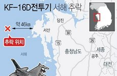Không quân Hàn Quốc tìm thấy hộp đen của chiến đấu cơ KF-16D