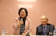 Nguyên Phó Chủ tịch nước Trương Mỹ Hoa thăm sứ quán Việt Nam tại Seoul