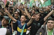 Biểu tình lớn tại Argentina phản đối các chính sách kinh tế