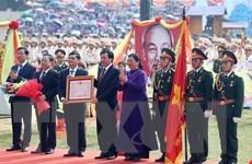 [Photo] Tỉnh Điện Biên tổ chức míttinh kỷ niệm những ngày lễ lớn