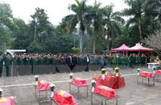Tỉnh Hà Tĩnh nhận bàn giao hài cốt liệt sỹ hy sinh tại Lào