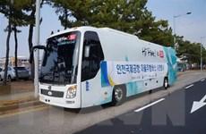 Hàn Quốc thử nghiệm trên thực địa xe buýt tự lái sử dụng mạng 5G
