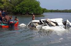 Máy bay nhỏ rơi xuống biển ngoài khơi Honduras, 5 người thiệt mạng