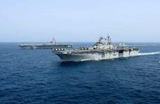 Hải quân Mỹ tiến hành tập trận tại Biển Arab đối phó đe dọa từ Iran