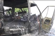 Đồng Nai: Xe khách bất ngờ bốc cháy khiến 3 người thương vong