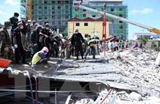 Tòa án Campuchia ra lệnh bắt 4 nghi can liên quan vụ sập nhà cao tầng