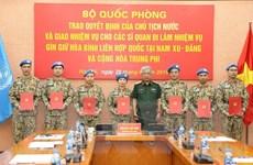 Thêm 7 sỹ quan Việt Nam đi gìn giữ hòa bình Liên hợp quốc