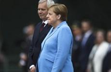 Thủ tướng Đức lần thứ ba xuất hiện trong tình trạng run rẩy