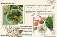 [Infographics] 'Say đắm' Tây Ninh với những đặc sản không thể bỏ lỡ