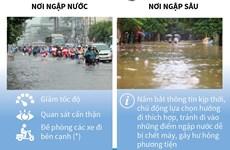 [Infographics] Những lưu ý khi tham gia giao thông trong mùa mưa