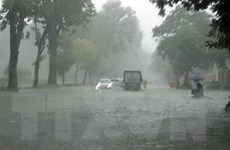 [Photo] Mưa lớn gây ngập cục bộ trên địa bàn Thủ đô Hà Nội