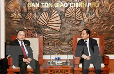 Việt Nam-Lào trao đổi kinh nghiệm quản lý nhà nước về tôn giáo