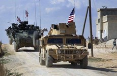 Hơn 100 xe vận tải quân sự Mỹ di chuyển tới căn cứ ở Iraq