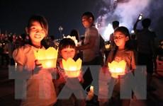 [Photo] Hải Dương: Lễ cầu an và hội hoa đăng trên sông Lục Đầu
