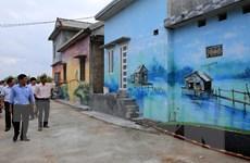 [Photo] Làng chài Ngư Mỹ Thạnh hút khách từ những bức bích họa