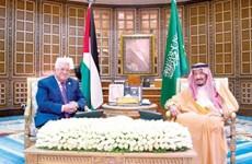 Quốc vương Saudi Arabia hội đàm với Tổng thống Palestine