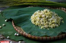 Xôi cốm - hương vị đặc trưng của Hà Nội mỗi khi mùa Thu đến