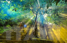 [Photo] Ngôi chùa cổ hơn 1.000 năm trên đỉnh núi Bái Đính