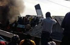 Số thương vong tăng cao trong vụ rơi máy bay tại CHDC Congo
