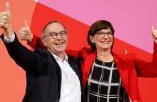 Đức: Đối thủ của Thủ tướng Merkel chiến thắng trong bầu lãnh đạo SPD