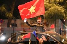 [Photo] Người Hà Nội chúc mừng U22 Việt Nam vào chung kết bóng đá nam