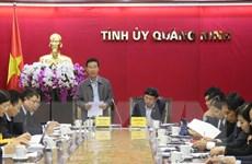Đoàn kiểm tra Bộ Chính trị làm việc với Thường vụ Tỉnh ủy Quảng Ninh