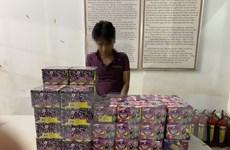 Bình Phước bắt giữ đối tượng dùng xe cẩu vận chuyển pháo lậu