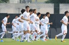 [Photo] U23 Việt Nam quyết tâm giành chiến thắng trước U23 Triều Tiên