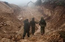 Israel bắt đầu khoan đặt thiết bị cảm biến dọc biên giới với Liban