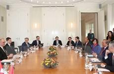 Phó Thủ tướng Trương Hòa Bình dự nhiều hoạt động tại WEF Davos