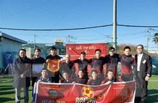 Giải bóng đá ở Nhật mừng ngày thành lập Đảng Cộng sản Việt Nam