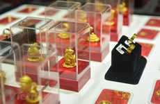 """Giá vàng tại thị trường châu Á rời khỏi mức """"đỉnh"""" của bốn tuần"""
