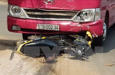 Xe khách đâm trực diện xe máy, ba người trong một gia đình tử vong