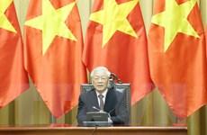 [Photo] Tổng Bí thư, Chủ tịch nước tiếp các đại sứ đến trình Quốc thư