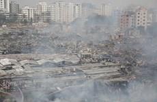 Cháy khu ổ chuột ở thủ đô Bangladesh, hàng nghìn người mất chỗ ở