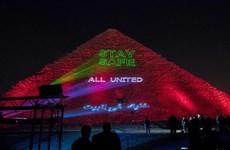 Ai Cập: Đại Kim tự tháp thắp sáng tình đoàn kết giữa đại dịch COVID-19