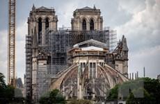 Pháp bắt đầu tháo dỡ hệ thống giàn giáo tại Nhà thờ Đức Bà