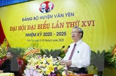 Đồng chí Trần Quốc Vượng dự Đại hội điểm huyện Văn Yên tại Yên Bái
