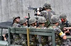 """Lính Triều Tiên được phát hiện """"đội mũ sắt và lắp lưỡi lê trên súng"""""""