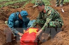 Quảng Trị cất bốc 7 hài cốt liệt sỹ ở khu vực lòng hồ Đập Trấm
