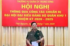 Thường vụ Quân ủy Trung ương làm việc tại Bộ Tư lệnh Quân khu 1