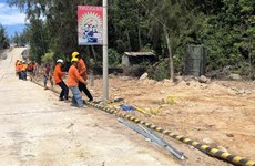 Dự án cấp điện cho đảo Nhơn Châu chậm tiến độ do vướng mặt bằng