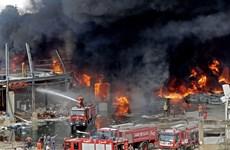 Tổng thống Liban: Vụ hỏa hoạn ở cảng Beirut có thể do hành vi phá hoại
