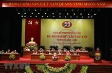 [Video] 497 đại biểu dự Đại hội Đảng bộ thành phố Hà Nội lần thứ XVII