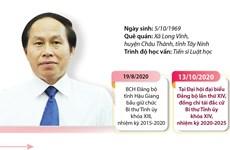 [Infographics] Ông Lê Tiến Châu tái đắc cử Bí thư Tỉnh ủy Hậu Giang