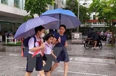 Nhiều trường học ở Nghệ An cho học sinh nghỉ học để phòng bão số 7