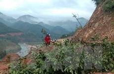 Áp thấp sau bão số 10 gây ngập lụt và sạt lở tại Bình Định