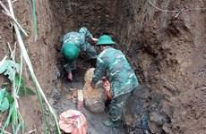 Hòa Bình hủy nổ an toàn quả bom gần 300kg sót lại sau chiến tranh